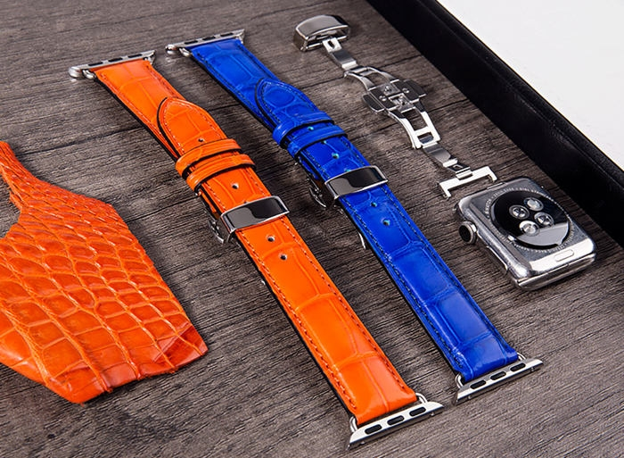 Alligator Leather Band for Apple Watch - Details