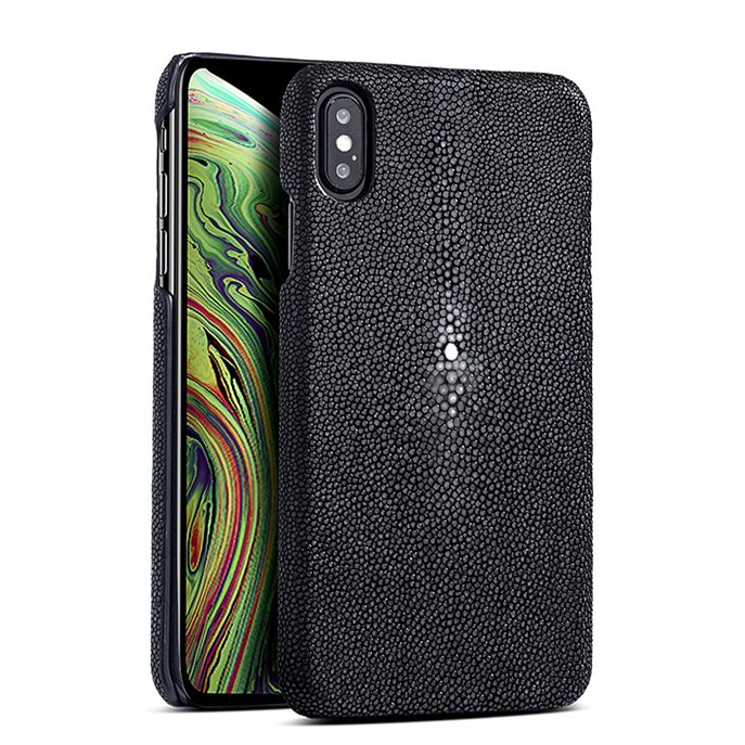 Stingray iPhone Xs, Xs Max Cases, Stingray Leather Cases for iPhone Xs, Xs Max - Black