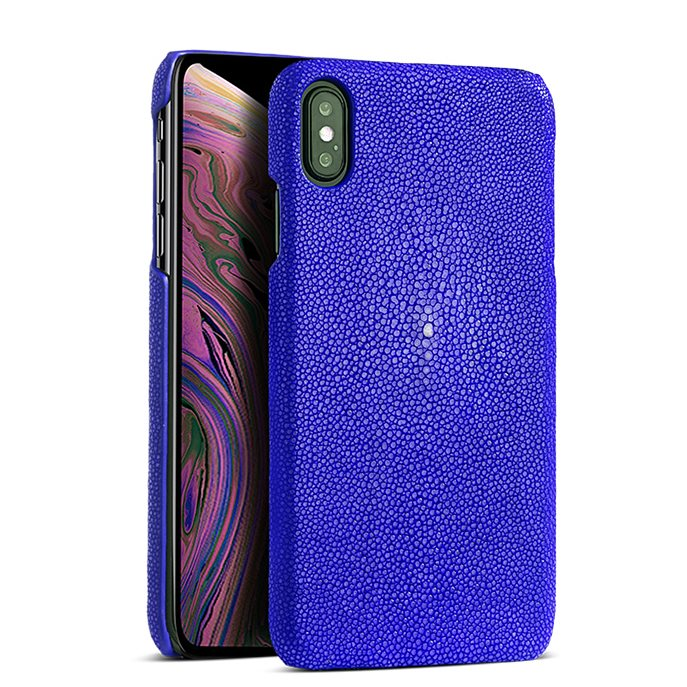 Stingray iPhone Xs, Xs Max Cases, Stingray Leather Cases for iPhone Xs, Xs Max - Blue
