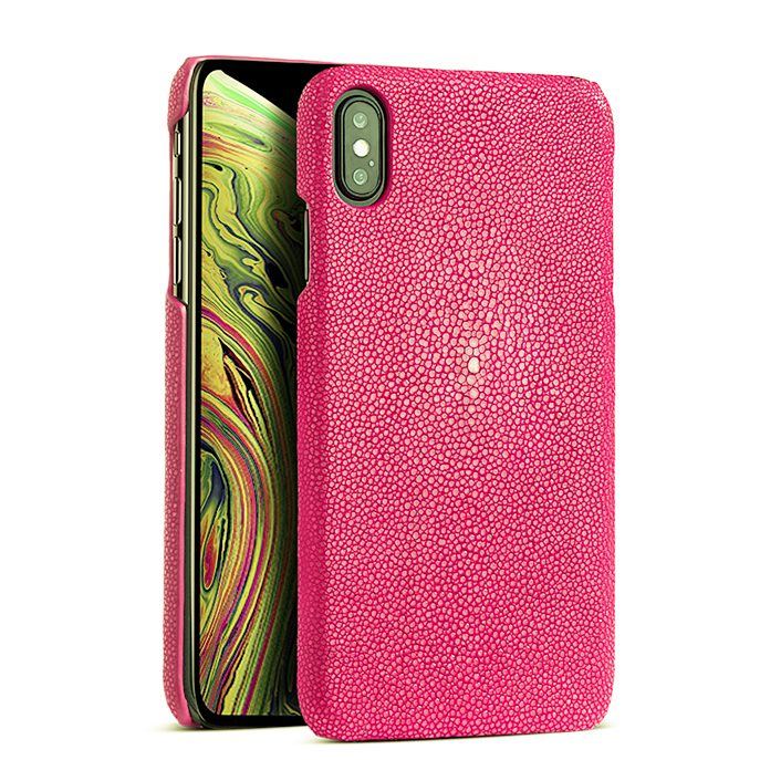 Stingray Leather iPhone Xs, Xs Max Case - Pink
