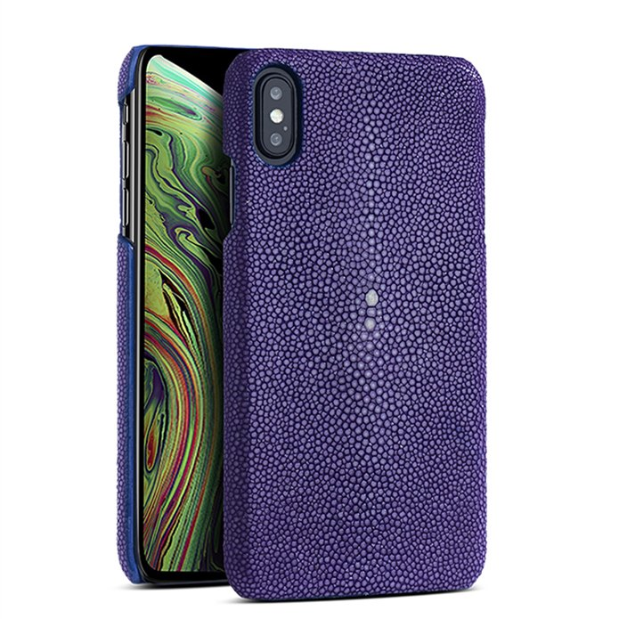 Stingray iPhone Xs, Xs Max Cases, Stingray Leather Cases for iPhone Xs, Xs Max - Purple