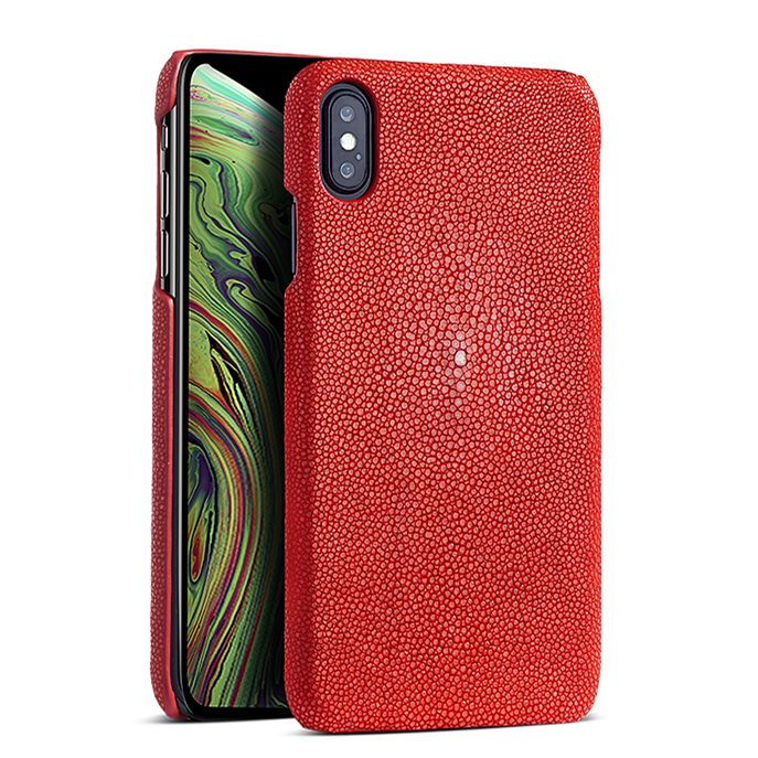 Stingray iPhone Xs, Xs Max Cases, Stingray Leather Cases for iPhone Xs, Xs Max - Red