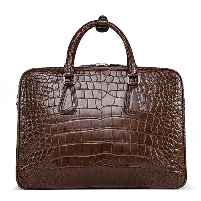 Alligator Business Bag, Alligator Leather Briefcase for Men