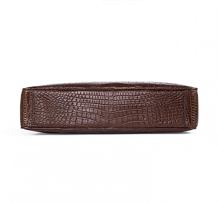 Alligator Business Bag, Alligator Leather Briefcase for Men-Bottom