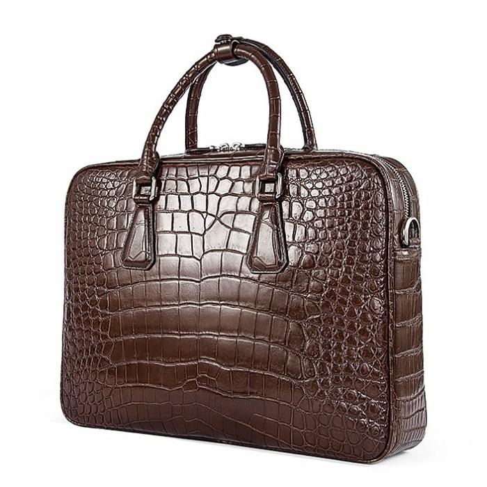 Alligator Business Bag, Alligator Leather Briefcase for Men-Micro Side