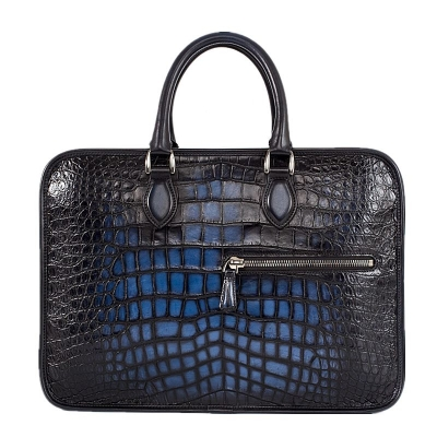 Alligator Crossbody Laptop Business Bag