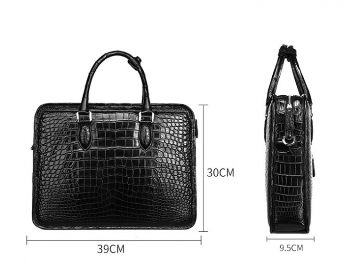 Alligator Crossbody Laptop Business Bag, Alligator Briefcase for Men-SizeAlligator Crossbody Laptop Business Bag, Alligator Briefcase for Men-Size