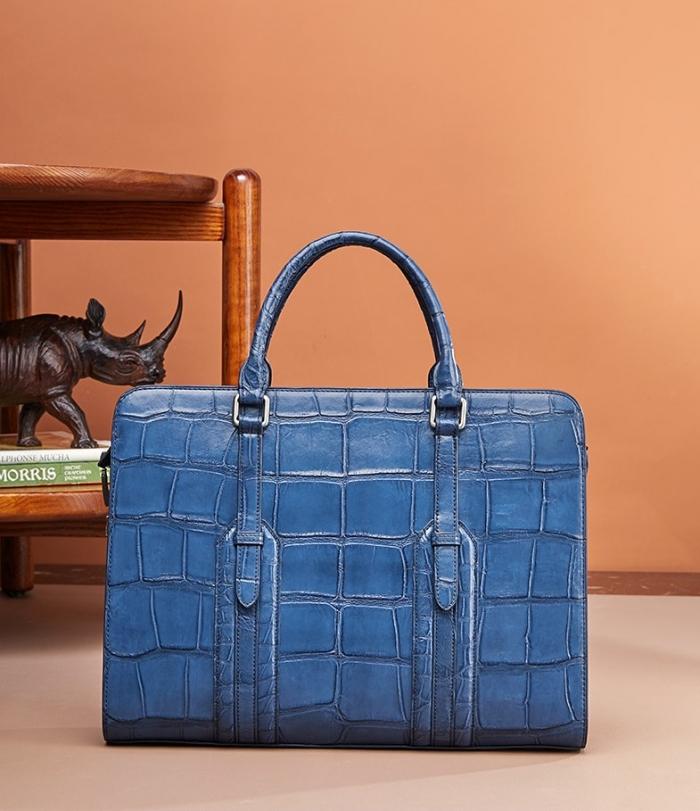 Alligator Leather Briefcase Shoulder Laptop Business Bags for Men