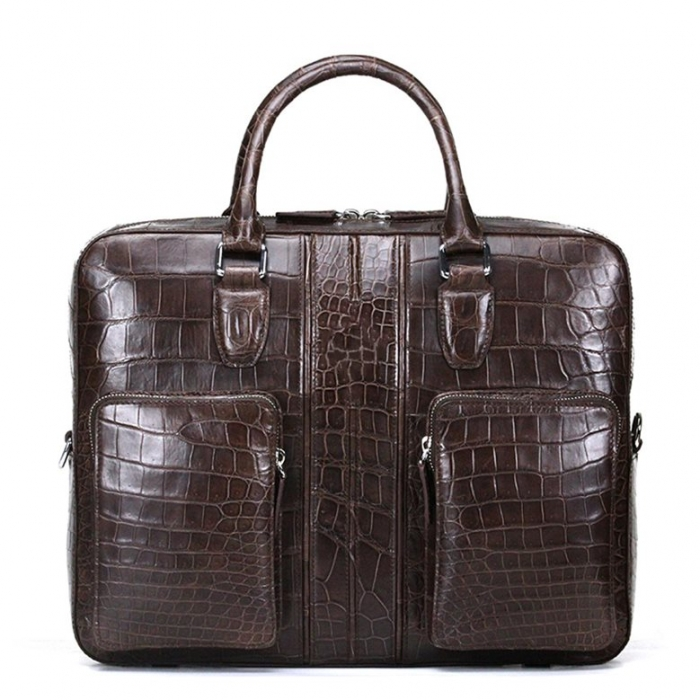 Alligator Leather Business Travel Briefcase