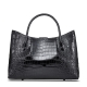 Alligator Skin Tote Shoulder Handbag Travel Bag for Women