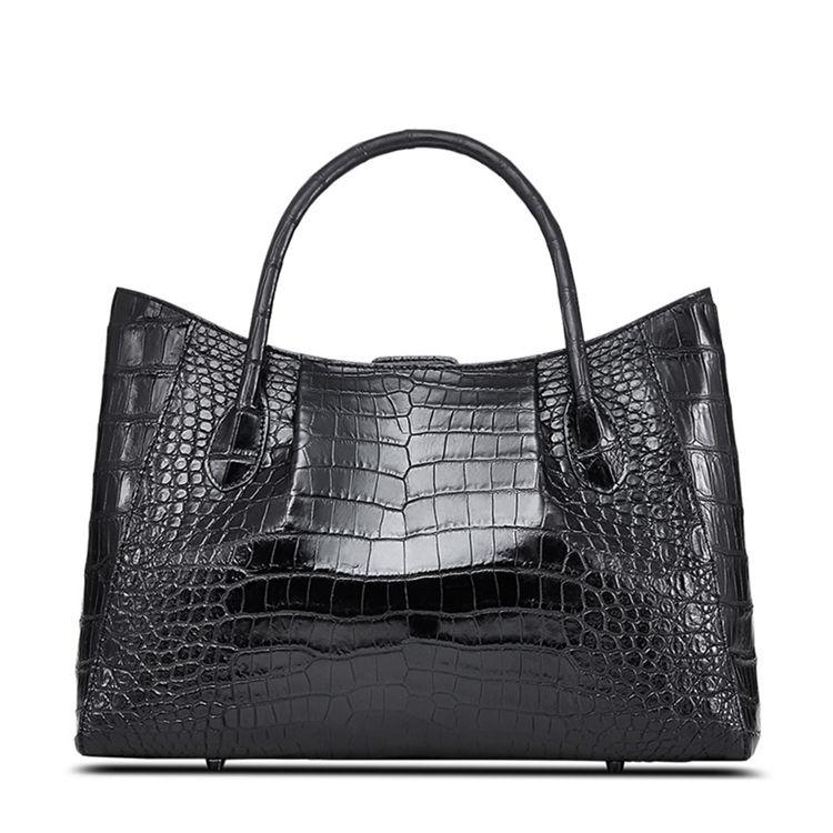 Alligator Skin Tote Shoulder Handbag