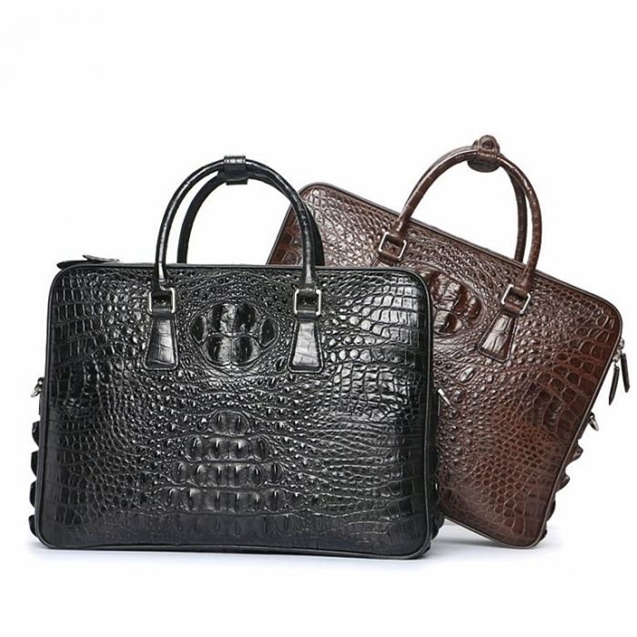 Crocodile Leather Briefcases Laptop Bags
