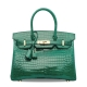 Designer Alligator Handbag-Green