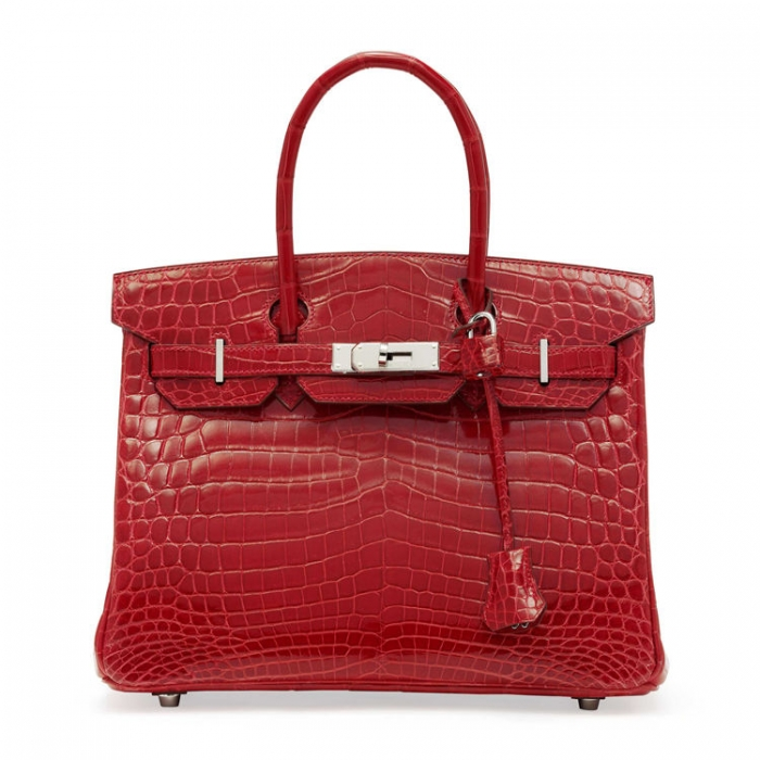 Designer Alligator Handbag-Red