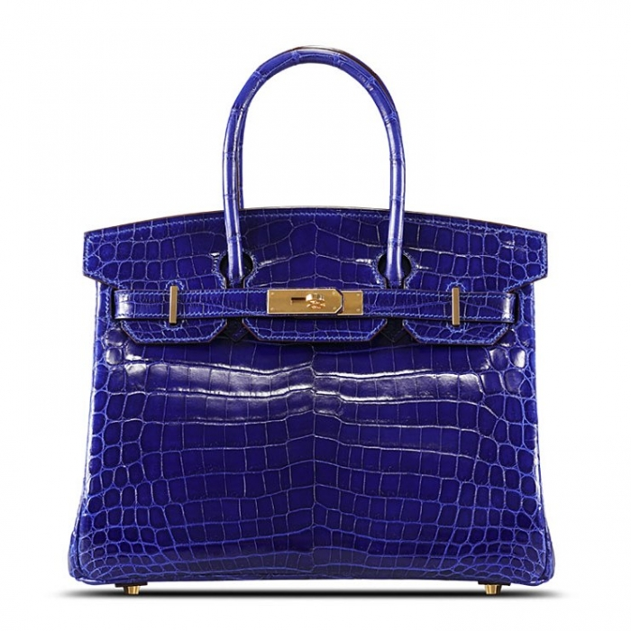 Designer Alligator Handbag-Royal Blue