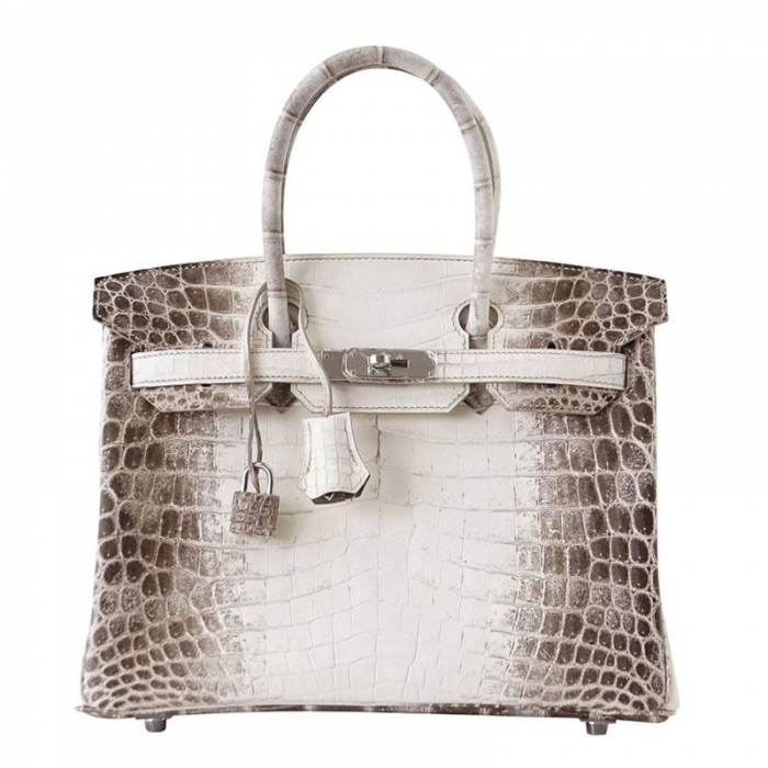 Designer Alligator Handbag-White