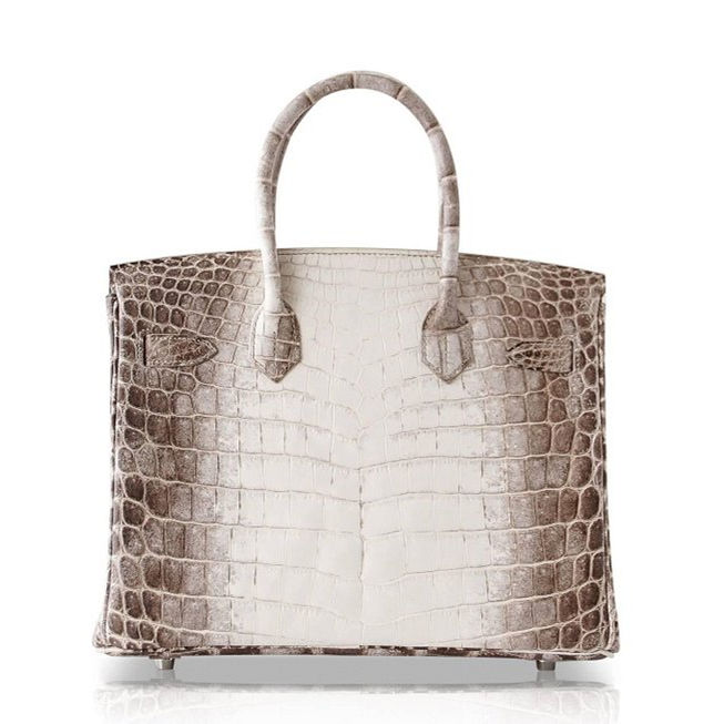 Designer Alligator Handbag-White-Back