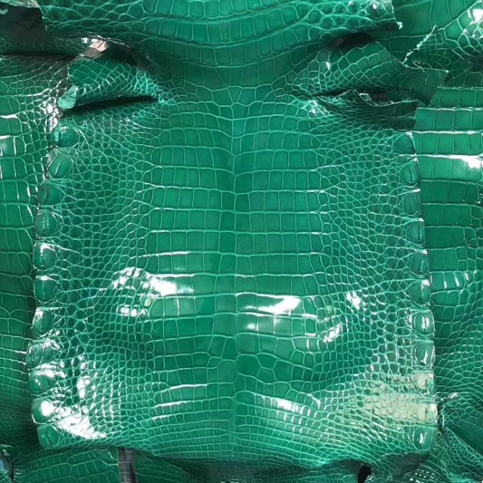 Genuine Alligator Skin-Green