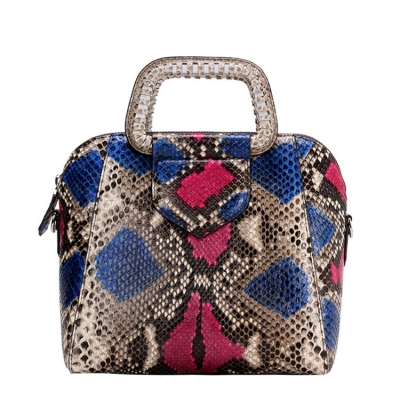 Snakeskin Top Handle Handbag Snakeskin Evening Bag