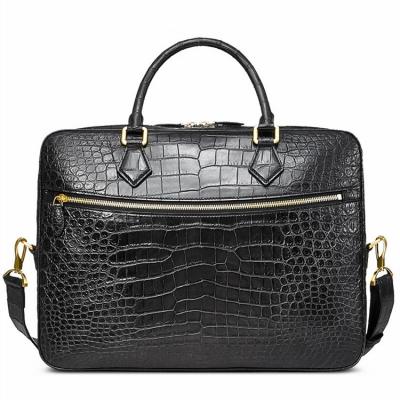 Stylish Alligator Briefcase Business Office Bag for Men