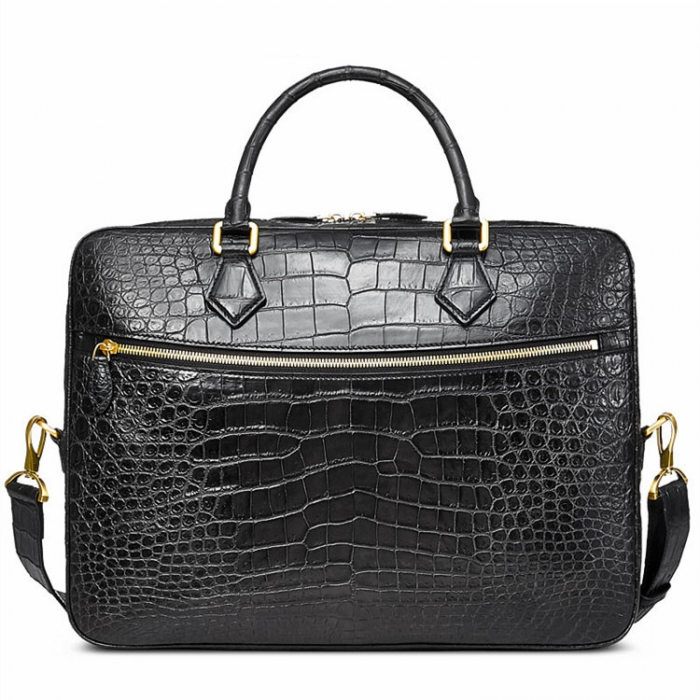 Stylish Alligator Briefcase Business Office Bag for Men
