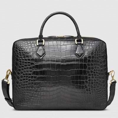 Stylish Alligator Briefcase Business Office Bag for Men-Back
