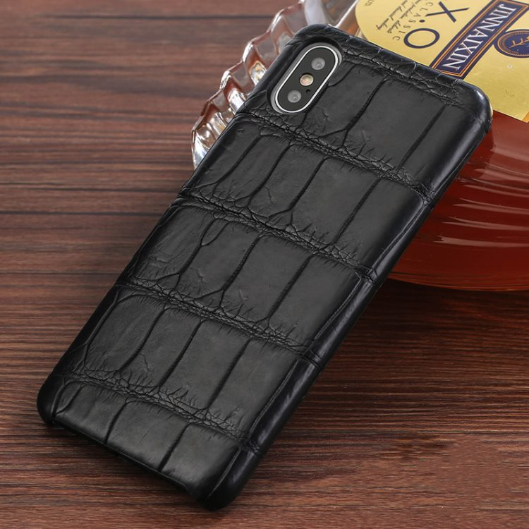 The Best iPhone Xs Max Cases-Crocodile iPhone Xs Max Case-Black