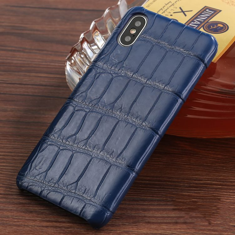 The Best iPhone Xs Max Cases-Crocodile iPhone Xs Max Case-Blue