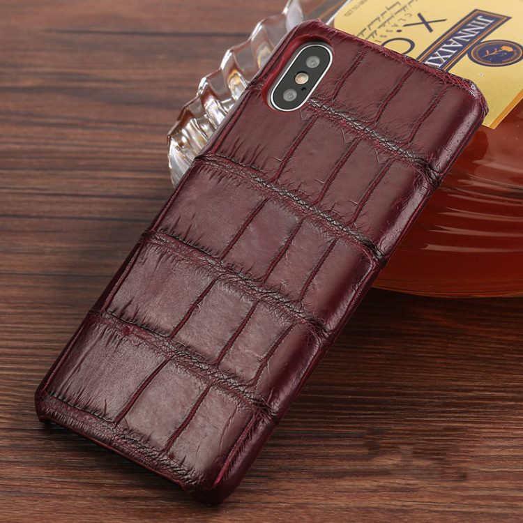 The Best iPhone Xs Max Cases-Crocodile iPhone Xs Max Case-Burgundy