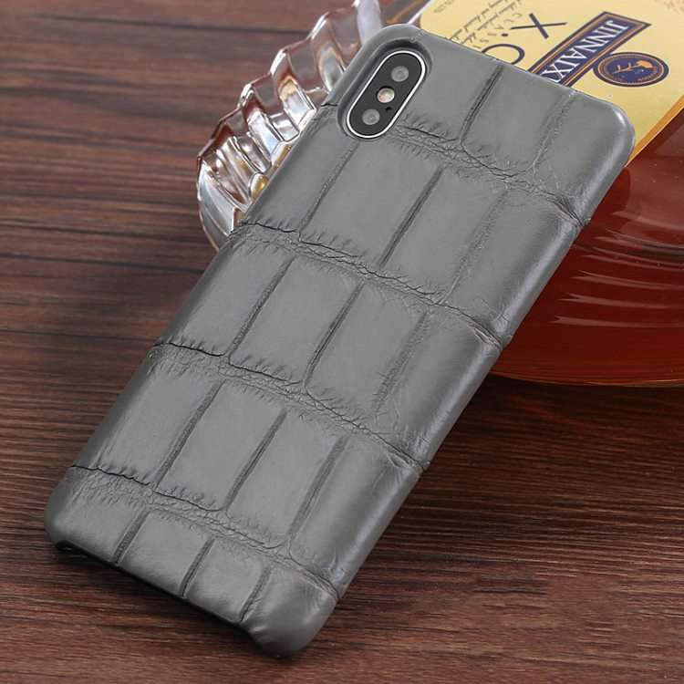 The Best iPhone Xs Max Cases-Crocodile iPhone Xs Max Case-Gray