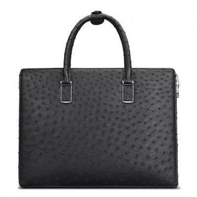 Formal Ostrich Leather Briefcase Laptop Business Bag for Men