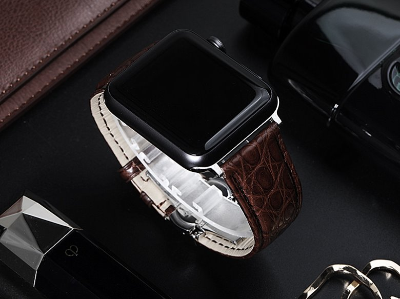 OURRUO's alligator apple watch band
