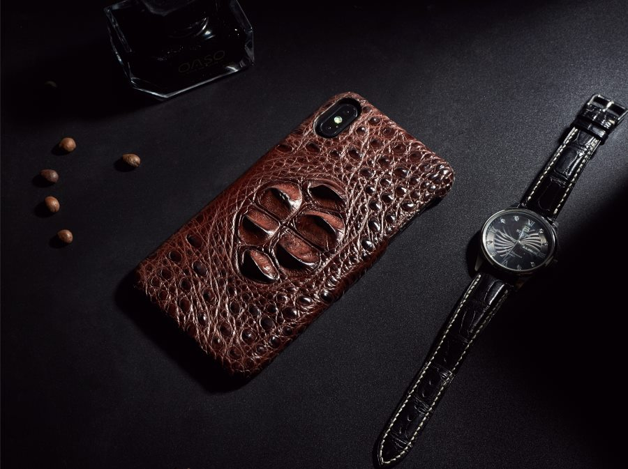 OURRUO iPhone Xs Crocodile Cases