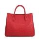 Ostrich Leather Tote Bag Top Handle Shoulder Bag-Red