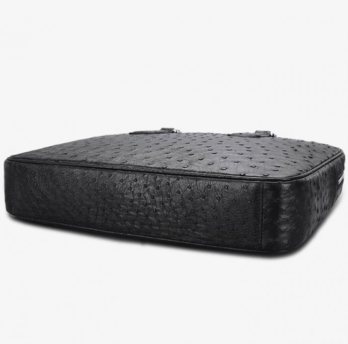 Slim Ostrich Business Bag Designer Ostrich Briefcase for Men-Bottom