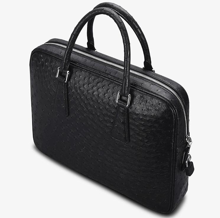 Black Ostrich Briefcase