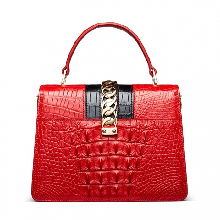 Style Crocodile Handbag Shoulder Bag Crossbody Bag for Lady-Back