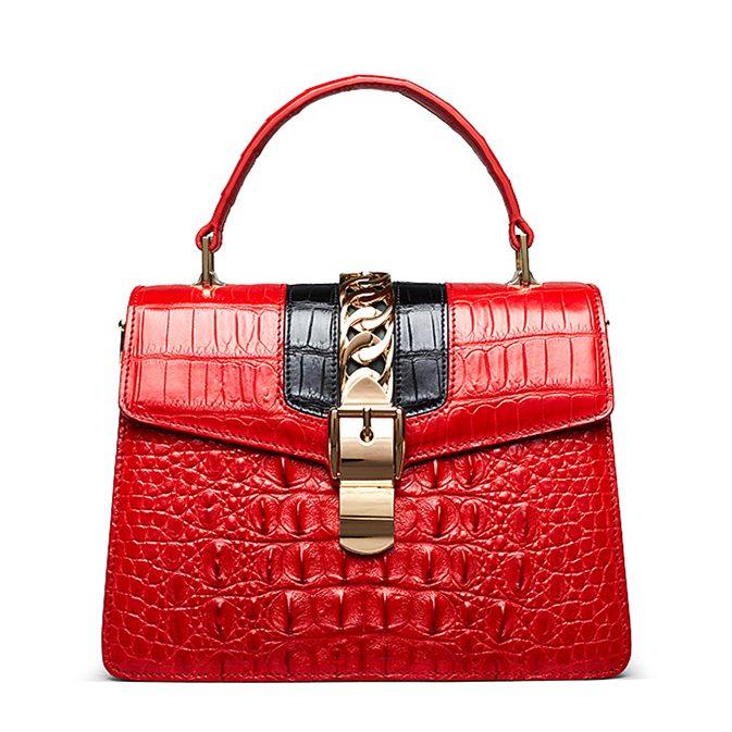 Style Crocodile Handbag Shoulder Bag Crossbody Bag for Lady
