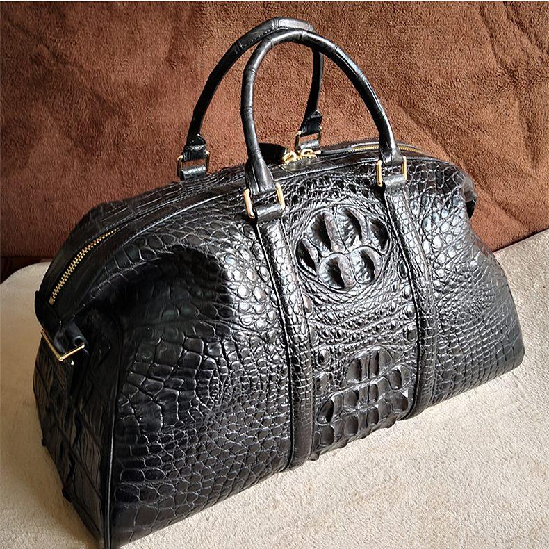 OURRUO's Crocodile Leather Duffel Bag