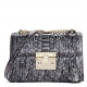 Python Skin Purse, Python Skin Clutch Bag Cross Body Bag-Black