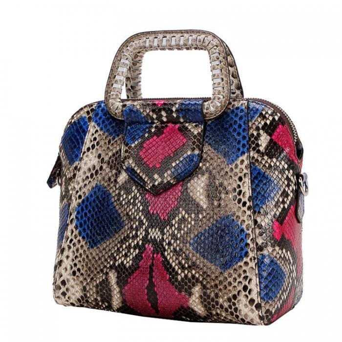 Snakeskin Handbag Top-Handle Bag Tote Crossbody Bag-Micro Side