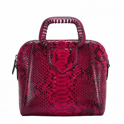 Snakeskin Handbag Top-Handle Bag Tote Crossbody Bag-Red
