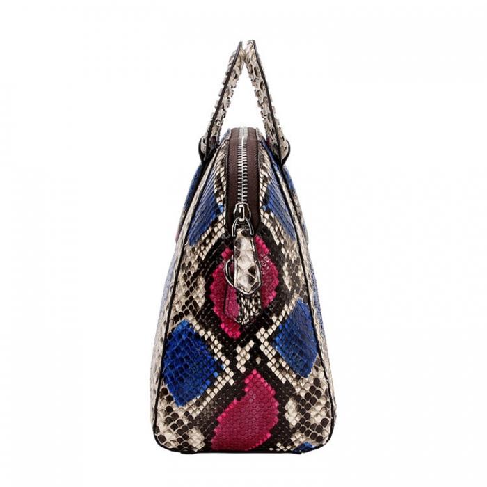 Snakeskin Handbag Top-Handle Bag Tote Crossbody Bag-Side