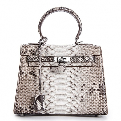 Stylish Snakeskin Handbag Python Flap Crossbody Satchel Bag