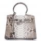 Stylish Snakeskin Handbag Python Flap Crossbody Satchel Bag