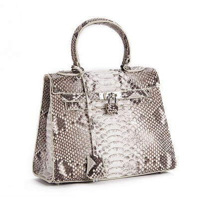 Stylish Snakeskin Handbag Python Flap Crossbody Satchel Bag-Micro Side