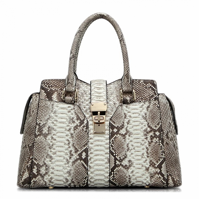 Stylish Snakeskin Top-Handle Handbags for Women