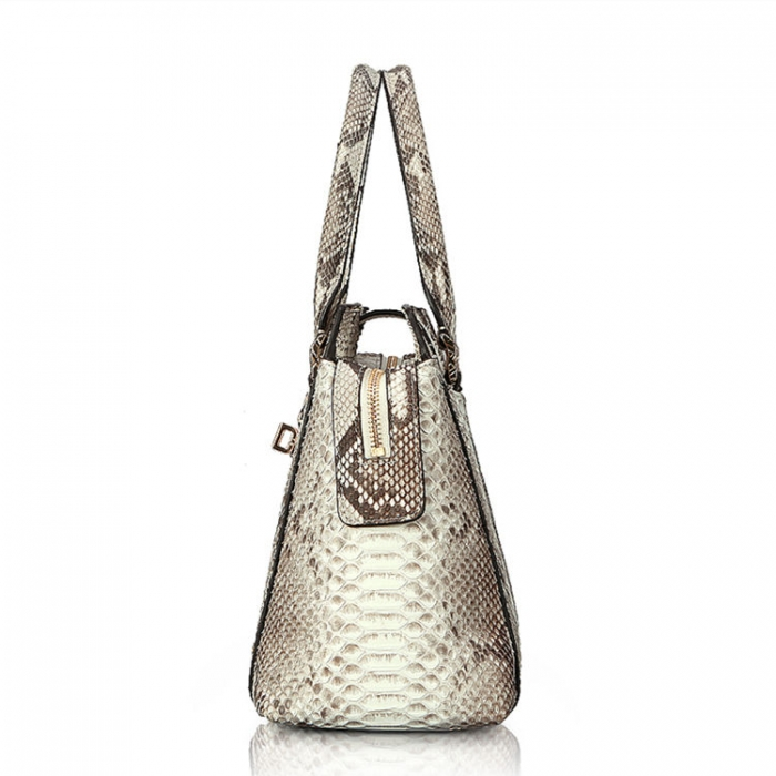 Stylish Snakeskin Top-Handle Handbags for Women-Side