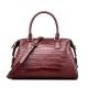 Boston Style Alligator Shoulder Strap Crossbody Handbag Tote Laptop Satchel Purse
