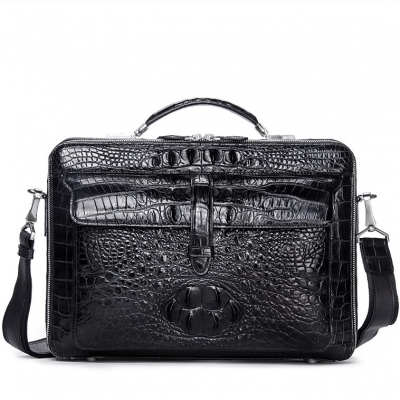 Crocodile Messenger Bag Laptop Briefcase Satchel Shoulder Bag